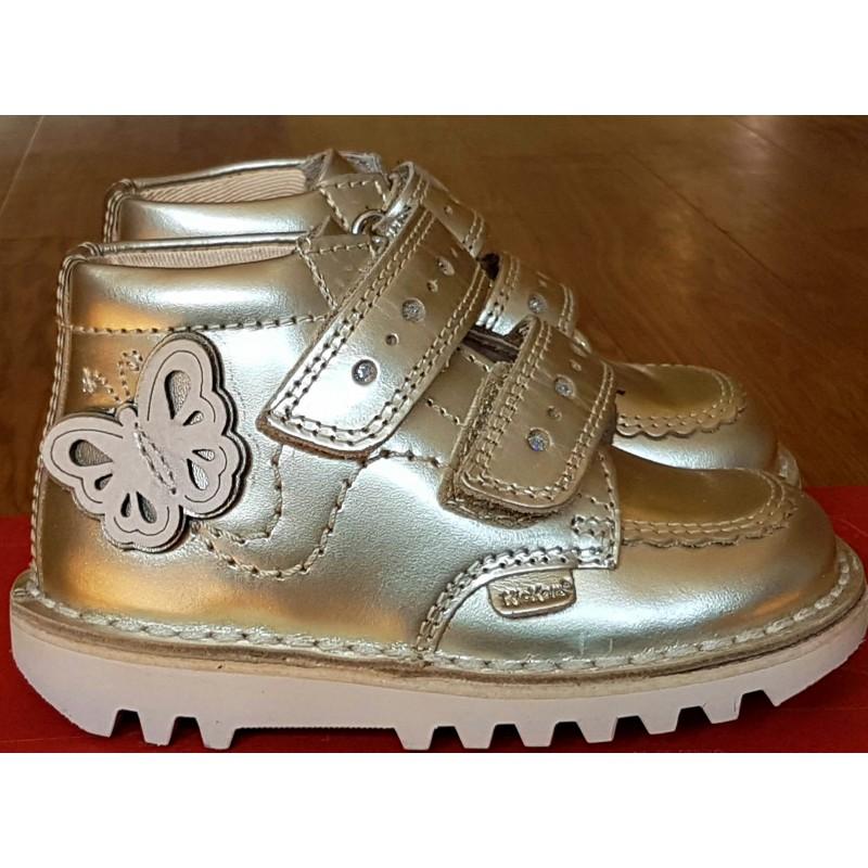 Kickers Kick Hi Infant Flutter - Gold