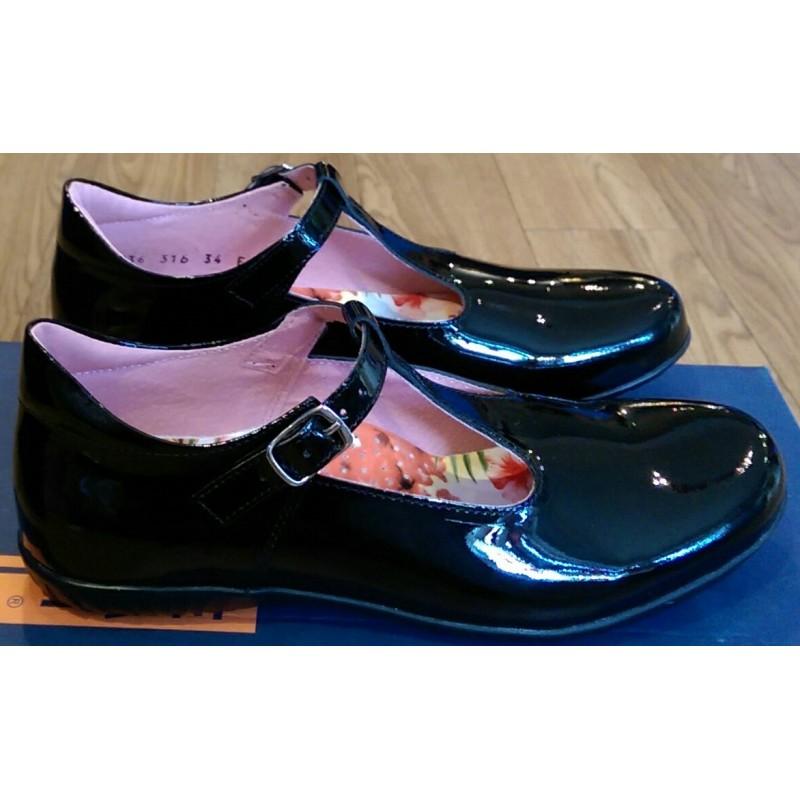 Petasil Emel Girls T-Bar School Shoe